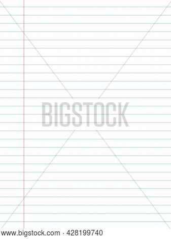 Realistic Notebook Design. Diary Blank Office Document. Note Book Sheet