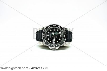 Bangkok, Thailand - 11 March 2019 : Rolex Gmt Master 2 Is A Popular Sport Model Of Rolex Watch.it Is