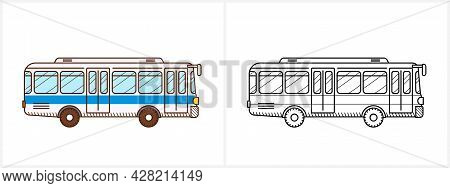 Bus Coloring Page. City Bus Side View