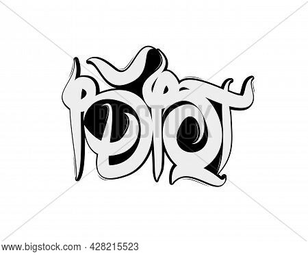 Idiot Graffiti Text On White Background In Vector Illustration. For Typography Poster, Photo Album,