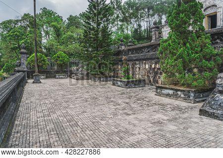 Khai Dinh Tomb Emperor In Hue, Vietnam. A Unesco World Heritage Site. Hue, Vietnam - March 9, 2020.