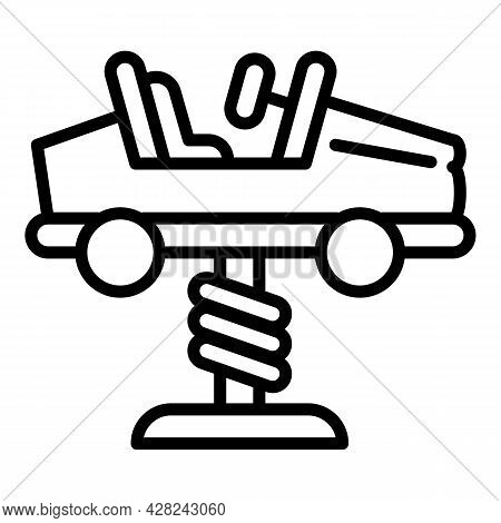 Car Spring Rider Icon. Outline Car Spring Rider Vector Icon For Web Design Isolated On White Backgro