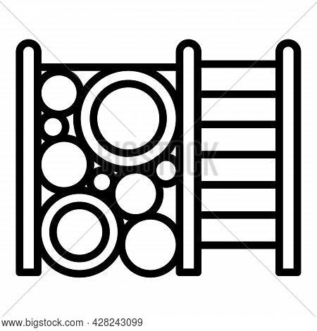 Climber Playset Icon. Outline Climber Playset Vector Icon For Web Design Isolated On White Backgroun