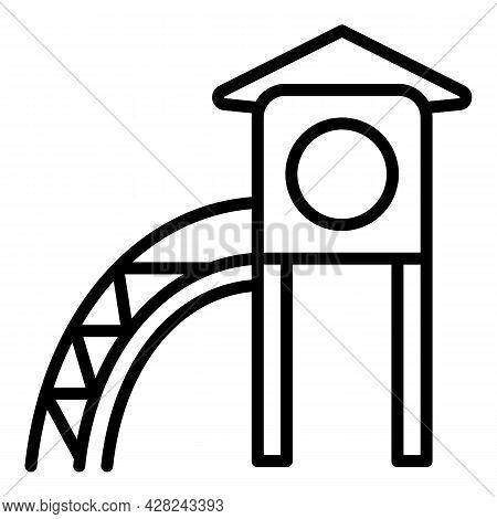 House Kid Slide Icon. Outline House Kid Slide Vector Icon For Web Design Isolated On White Backgroun