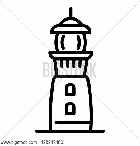 Port Lighthouse Icon. Outline Port Lighthouse Vector Icon For Web Design Isolated On White Backgroun
