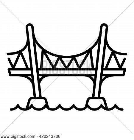 Aqueduct Bridge Icon. Outline Aqueduct Bridge Vector Icon For Web Design Isolated On White Backgroun