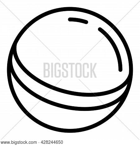 Baby Rubber Ball Icon. Outline Baby Rubber Ball Vector Icon For Web Design Isolated On White Backgro
