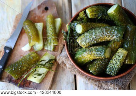 Probiotics And Fermented Foods. Pickled Cucumbers. Probiotics.