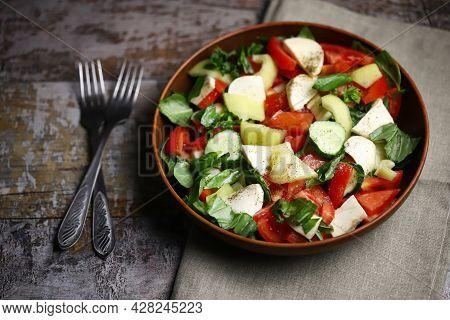 Healthy Fresh Salad Bowl. Keto Diet Salad.
