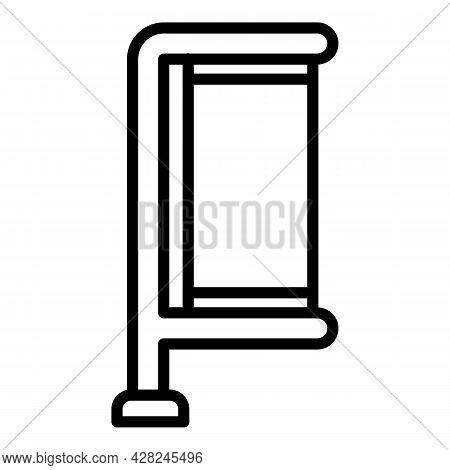 Outdoor Advertising Pillar Icon. Outline Outdoor Advertising Pillar Vector Icon For Web Design Isola