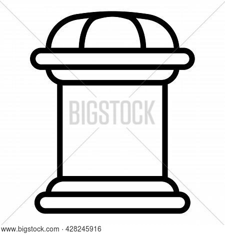 Publicity Outdoor Advertising Icon. Outline Publicity Outdoor Advertising Vector Icon For Web Design