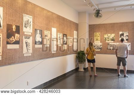 Ho Chi Minh, Vietnam - Oct 17, 2019 : Many Tourists Visiting Vietnamese - American War Remnants Muse