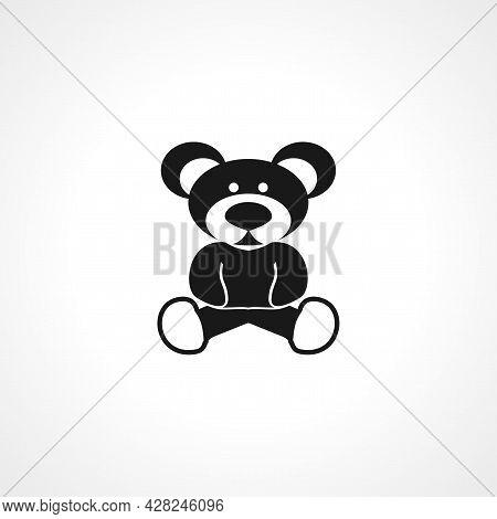Teddy Bear Icon. Teddy Bear Simple Vector Icon. Teddy Bear Isolated Icon.