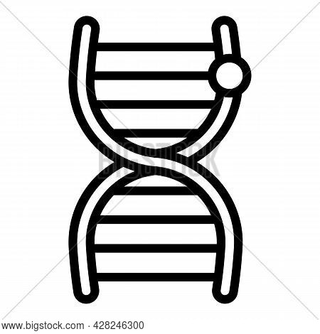 Forensic Laboratory Dna Research Icon. Outline Forensic Laboratory Dna Research Vector Icon For Web