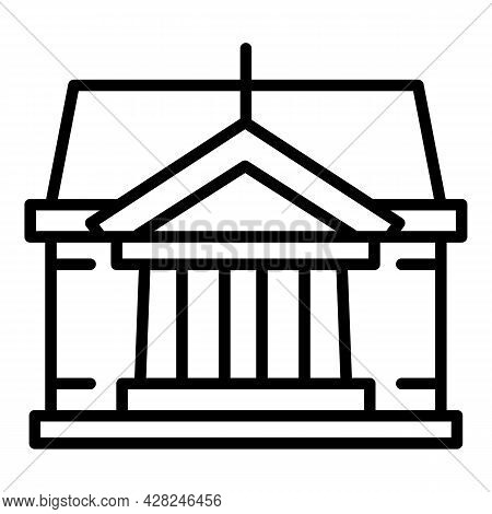 Courthouse Judge Icon. Outline Courthouse Judge Vector Icon For Web Design Isolated On White Backgro