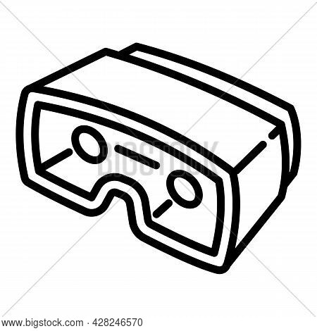 Carton Game Glasses Icon. Outline Carton Game Glasses Vector Icon For Web Design Isolated On White B