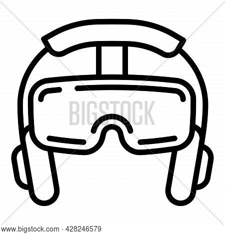 Headset Game Glasses Icon. Outline Headset Game Glasses Vector Icon For Web Design Isolated On White
