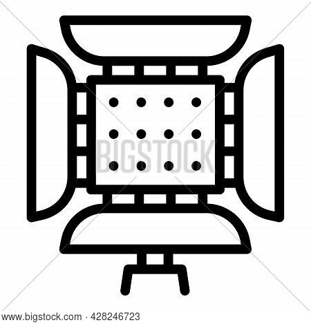 Photographer Led Light Icon. Outline Photographer Led Light Vector Icon For Web Design Isolated On W