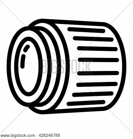Camera Lens Icon. Outline Camera Lens Vector Icon For Web Design Isolated On White Background
