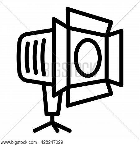 Camera Studio Spotlight Icon. Outline Camera Studio Spotlight Vector Icon For Web Design Isolated On
