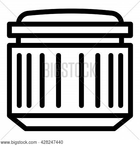 Portrait Camera Lens Icon. Outline Portrait Camera Lens Vector Icon For Web Design Isolated On White