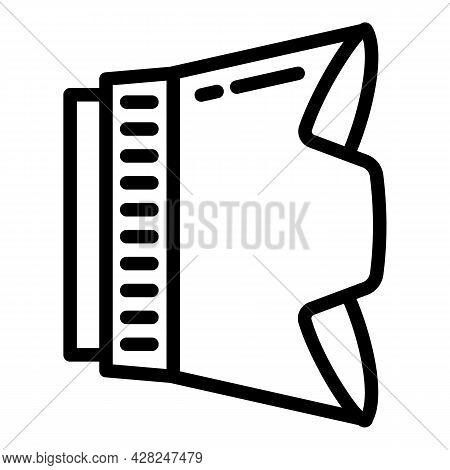 Plastic Lens Hood Icon. Outline Plastic Lens Hood Vector Icon For Web Design Isolated On White Backg