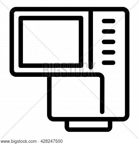 Camera Screen Assist Icon. Outline Camera Screen Assist Vector Icon For Web Design Isolated On White