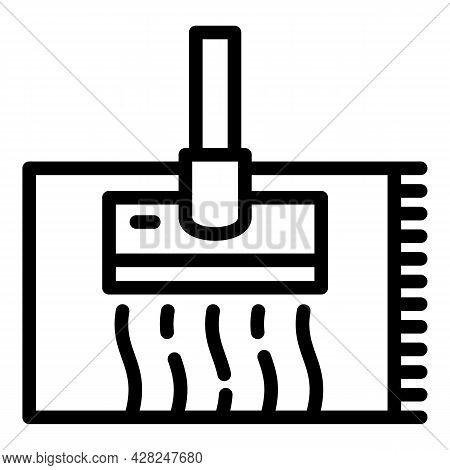 Carpet Cleaner Icon. Outline Carpet Cleaner Vector Icon For Web Design Isolated On White Background