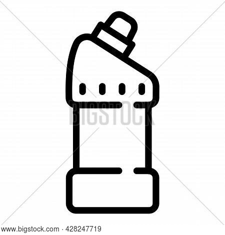 Toilet Cleaner Bottle Icon. Outline Toilet Cleaner Bottle Vector Icon For Web Design Isolated On Whi