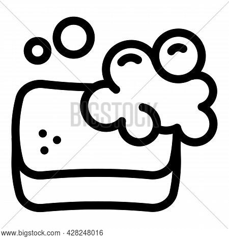 Cleaner Sponge Icon. Outline Cleaner Sponge Vector Icon For Web Design Isolated On White Background