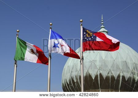 Dome And Three Flags