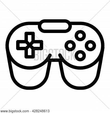 Game Joystick Icon. Outline Game Joystick Vector Icon For Web Design Isolated On White Background