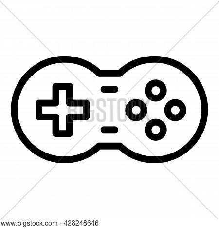 Gaming Joystick Icon. Outline Gaming Joystick Vector Icon For Web Design Isolated On White Backgroun