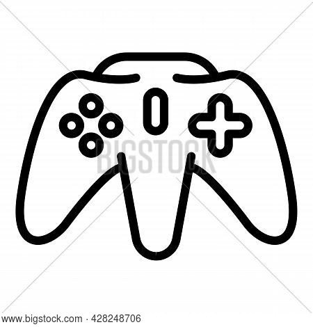 Pc Joystick Icon. Outline Pc Joystick Vector Icon For Web Design Isolated On White Background