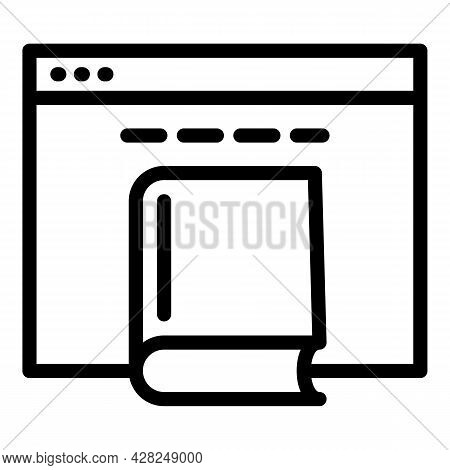 Interactive Learning Web Page Icon. Outline Interactive Learning Web Page Vector Icon For Web Design