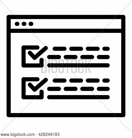 Interactive Learning Mission Icon. Outline Interactive Learning Mission Vector Icon For Web Design I