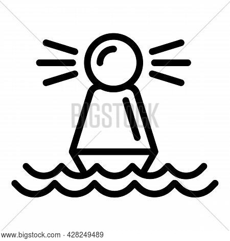 Sea Buoy Icon. Outline Sea Buoy Vector Icon For Web Design Isolated On White Background