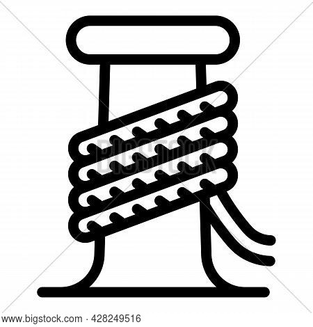 Marine Port Rope Icon. Outline Marine Port Rope Vector Icon For Web Design Isolated On White Backgro