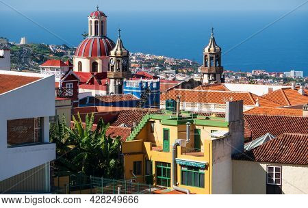La Orotava, Tenerife, Spain-01 January 2020,, Beauiful View On The Church Of Our Lady Of Conception
