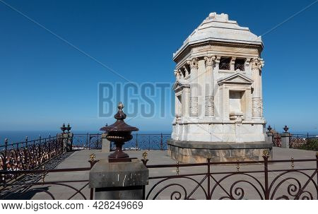 La Orotava, Tenerife, Spain-01 January 2020, Family Mausoleum In Rhe Garden Jardines Del Marquesado