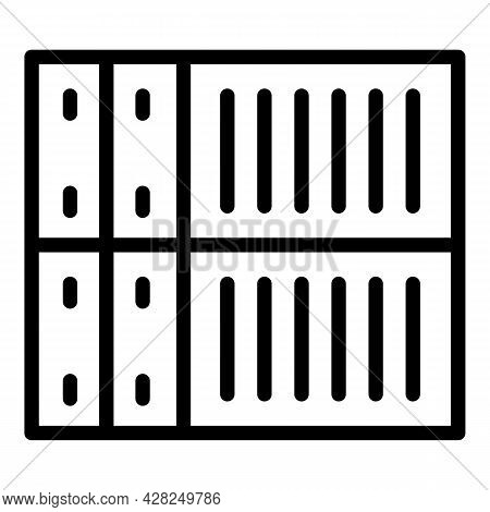 Port Cargo Container Icon. Outline Port Cargo Container Vector Icon For Web Design Isolated On White