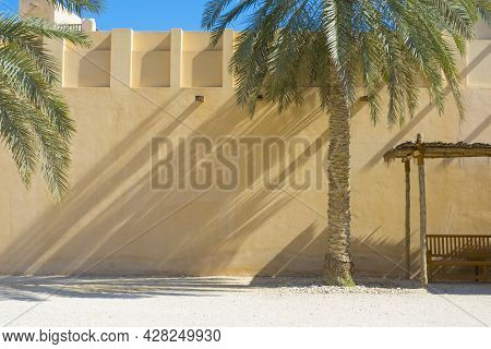 Detailed Of The Palace Of Sheikh Abdullah Bin Jassim Al Thani In Doha, Qatar.