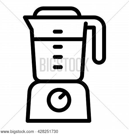Food Mixer Icon. Outline Food Mixer Vector Icon For Web Design Isolated On White Background