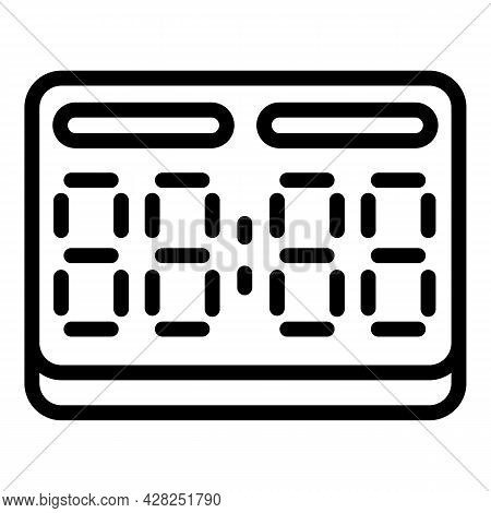 Basketball Score Board Icon. Outline Basketball Score Board Vector Icon For Web Design Isolated On W