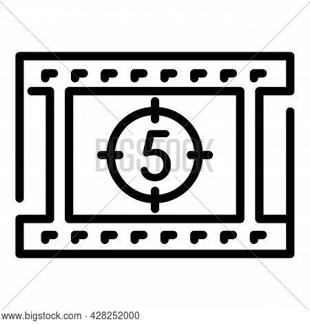 Movie Countdown Icon. Outline Movie Countdown Vector Icon For Web Design Isolated On White Backgroun