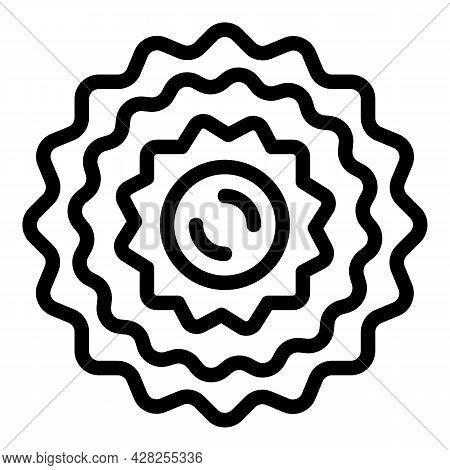 Bike Wheel Star Icon. Outline Bike Wheel Star Vector Icon For Web Design Isolated On White Backgroun