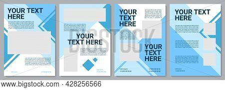 Informational Brochure Template. Professional Service. Flyer, Booklet, Leaflet Print, Cover Design W