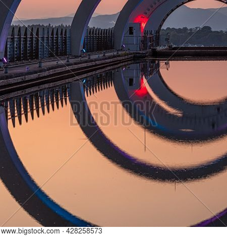 Abstract Reflections Of Falkirk Wheel