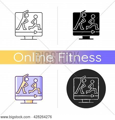 High Intensity And Intervals Workout Icon. Online Fitness Work And Rest Ratio Exercises. Personal Ti