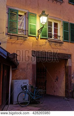 Strasbourg, France, June 23, 2021 : Old House In Petite France Quarter, Home In The Middle Ages To T